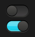 on and off slider buttons blue and black oval vector image vector image
