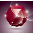 Party 3D red shiny disco ball fractal dazzling vector image vector image