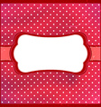 Polka dot vintage frame vector image vector image