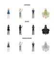 posture and mood symbol vector image