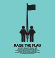 Raise The Flag Symbol vector image vector image