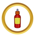 Refill bottle with pipette icon vector image vector image