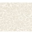 Seamless abstract hand-drawn waves pattern wavy vector image vector image
