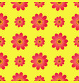 seamless pattern with dahila blossom isolated vector image vector image