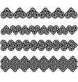 Set lace vector image vector image
