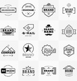 set minimal and clean vintage hipster logotype vector image