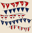 Set of 4th july party flags on string