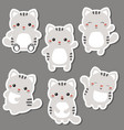 set of cute cats set of cute cats vector image vector image