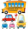 set of different types of transportation vector image vector image