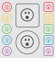 Shocked Face Smiley icon sign symbol on the Round vector image