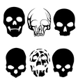 skull silhouettes vector image vector image