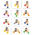 Smartphone touch gestures vector image vector image