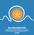 snow icon sign Blue and white abstract background vector image