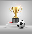 soccer championship winner award realistic vector image