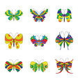 summer collection of colorful butterflies vector image vector image