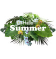 summer tropical banner or flyer design vector image vector image
