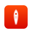 surfboard icon digital red vector image vector image