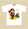 t-shirt print design pirate vector image
