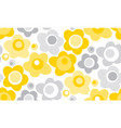 tender gray and yellow floral seamless pattern vector image vector image