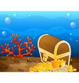 Underwater treasure vector image vector image