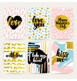 valentines day trendy posters vector image