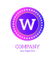 w letter logo design w icon colorful and modern vector image