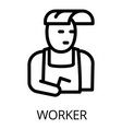 welder worker icon outline style vector image