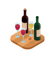 wine tasting isometric vector image
