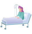 woman in hospital on white vector image vector image