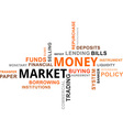 word cloud money market vector image vector image