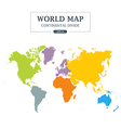 World Map Continental Divide vector image