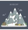 Ski Resort Mountain landscapes flat vector image