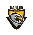 colorful logo sticker emblem of a eagle flying vector image