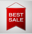 red pennant with inscription best sale over a grey vector image