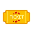 ticket stub isolated icon design vector image
