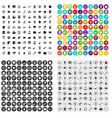 100 help desk icons set variant vector image vector image