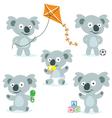 5 cute cartoon koalas