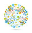 abstract computer circuit board circular vector image vector image