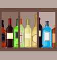 alcohol drinks beverages cocktail cards bottle vector image