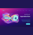 artificial reproduction concept landing page vector image vector image