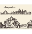 Bangalore engraved hand drawn sketch vector image vector image