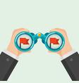 binocular business concept vector image vector image