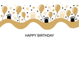 birthday long vector image vector image