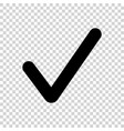 black check mark icon isolated on transparent vector image vector image