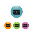 briefcase icon on colored bubbles and white vector image vector image