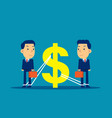 business financial issues concept vector image vector image