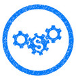 business gears rounded grainy icon vector image vector image