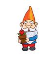 colorful garden gnome vector image vector image