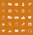 customer service color icons on orange background vector image vector image