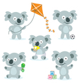 Cute Cartoon Koalas vector image vector image